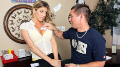 BigTitsAtWork – Titty Tipper Samantha Saint