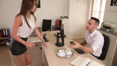 PornWorld – Sexy Secretary Liya Silver Fucked Hard By Boss On Office Desk