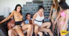 FamilyScrew – Two Sisters In A Hardcore Family Fuck
